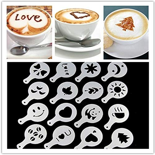 Beste kwaliteit – dit product hoort thuis – 16-delige set fancy coffee printpatronen keuken keukenaccessoires voor koffie en thee. q - by Stephanie - 1 pc