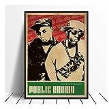 Poster Public Enemy Musik Sänger Poster Hip Hop Rap Musik
