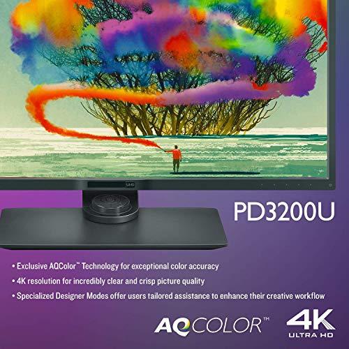 Benq PD3200U LED Display 81,3 cm (32') 4K Ultra HD Plana Negro - Monitor (81,3 cm (32'), 3840 x 2160 Pixeles, 4K Ultra HD, LED, 4 ms, Negro)