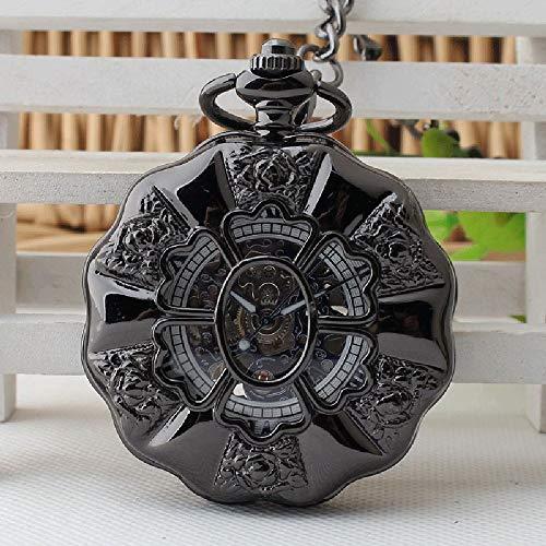 LNDDP El Nuevo Reloj Bolsillo mecánico semiautomático Estudiante Regalo Creativo Pareja Retro Flip Reloj Bolsillo Precio