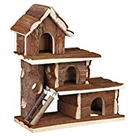 3 storeys Easy to clean Measures 25 cm length by 12 cm width by 30 cm height Ideal for mice and hamster Made of wood