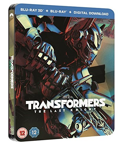 Transformers The Last Knight 3D Limited Edition Steelbook /Import / Includes 2D Blu Ray