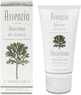 L'Erbolario, Deocrema Assenzio, Deodorante Cremoso alle Tre Artemisie, 50 ml