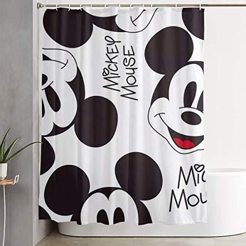 Meirdre Stilvoller Duschvorhang Mickey Mouse Smile Druck Wasserdicht Badezimmer Vorhang 152,4 x 182,9 cm