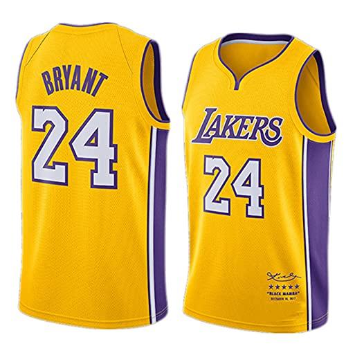 DDSGG Camiseta de Baloncesto para Hombre Camiseta Sin Mangas con Chaleco de Rendimiento, NBA Lakers 24# Kobe Bryant Kobẽ Lakẽr 24# Camiseta de Baloncesto, Delgada Sin Mangas