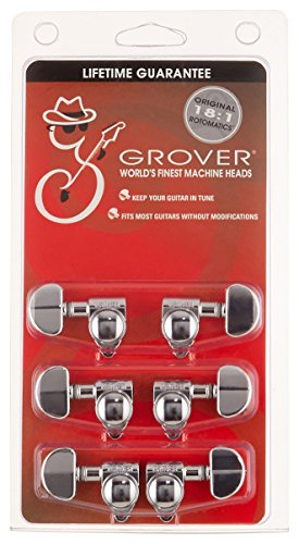 Grover 102-18C Rotomatic 18:1 3 per Side Tuners, Chrome