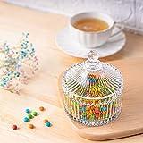 ComSaf Bonboniere mit Deckel Ф10cm 2er-Set, Zuckerdose aus Glas Klein, Lebensmittelechter Glasbehälter für Snacks - 6
