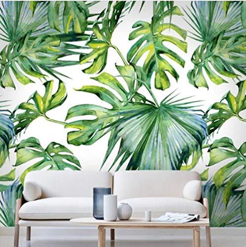 Relief Hellgrünes Blatt Tapete Für Wohnzimmer Schlafzimmer Wandbild Tapeten 3D Desktop Hintergrund Tapete Wohnkultur,350 * 256Cm
