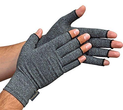 Guantes Anti-Artritis Medipaq® (Par) – Ofrecen Calor Y Compresión Para Ayudar A Aumentar La Circulación Reduciendo El Dolor Y Promover La Sanación (1 Par (Mediano))
