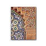 AZTeam Arte De Pared Marroquí Impresión De Lienzo Arquitectura De Marrakech Póster Decoración De Pared Imagen De Arte Decoración Pintura Arte De Pared para Decoración De Pared-50X70Cm Sin Marco