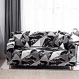 WXQY Funda de sofá de celosía Cuadrada, Funda Protectora para Muebles de Sala de Estar, Funda Protectora para sofá elástica a Prueba de Polvo A12, 3 plazas