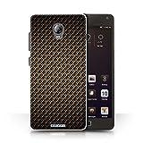 Stuff4® Hülle/Case für Lenovo Vibe P1 / Gold Muster/Kohlenstoff-Faser-Muster Kollektion