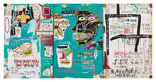 JH Lacrocon Peintures à la Main Ishtar 1983 Von Jean-Michel Basquiat - 120X60 cm Reproduction Toile Graffiti Poster Roulée