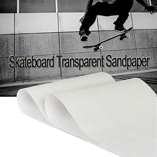 YSHTAN Transparant Skateboard Schuurpapier Scooter Onderdelen & Accessoires Schuurpapier Dikke PVC Anti-Slip Transparant Skateboard Schuurpapier Lange Board Grip Tape - 84cm x 24cm