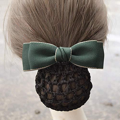 Headdress Haar Sets Eenvoudige Haaraccessoires Stewardess Bank Verpleegster Professionele Hoofd Bloem Werk Haar Clip Disk Haar Gift Bilateraal donkergroen