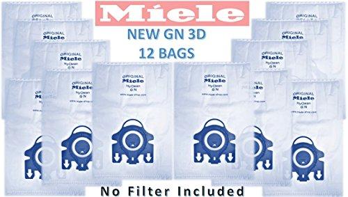 Sacchetti per aspirapolvere originali Miele, tipo GN, filtro non incluso, 12 pezzi