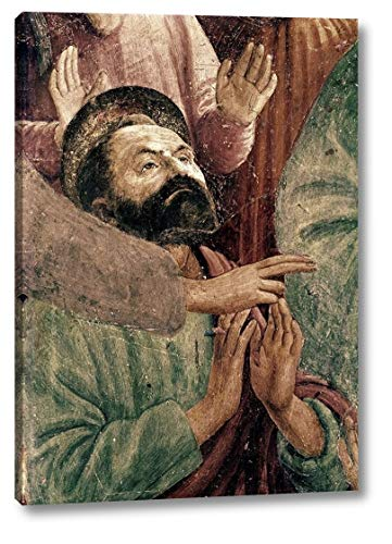 """St. Peter Resurrects The Child of Theophilus by Masaccio - 21"""" x 30"""" Canvas Art Print Gallery Wrapped - Ready to Hang"""
