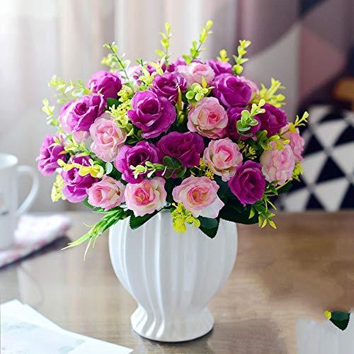 xgruisi kunstbloem 4 boeket bloemen accessoires roze kunsthandwerk vazen keramiek met vaas van bloemen Home Office decoratie decoratie decoratie decoratie decoratie kleur 14