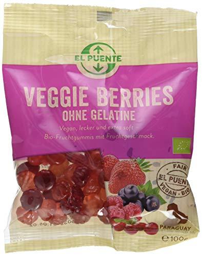 """El Puente \""""Veggie Berries\"""" Fruchtgummi mit Pektin, ohne Gelatine, 10er Pack (10 x 100 g)"""