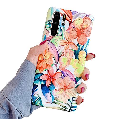 Oihxse Mode Chic Hoesje Compatibel met Samsung Galaxy S8 Beschermhoes Siliconen Bloemen Glanzend Glitter Zachte Beschermhoes Ultradun Motief Elegant Anti-kras Bescherming Cover A3