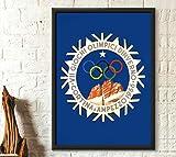 Póster del juego olímpico de invierno 1956 – Cortina D'ampezzo póster deportivo sin marco – Lienzo – cita motivacional arte de pared decoración del hogar