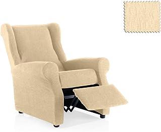 JM Textil Funda de sillón Relax elástica Haber Tamaño 1 Plaza (Estándar), Color 00