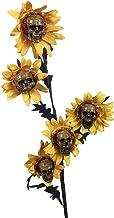 Ububiko Halloween Standbeeld, Tuin Ornament, Zonnebloem gesimuleerd hoofd bot gemaakt van hars, voor tuin, staand, kunstbl...