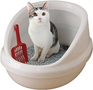 アイリスオーヤマ ネコのトイレ ハーフカバー しろ