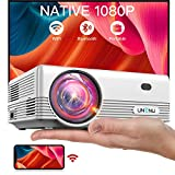 UNENU Mini Projector Native 1080P WiFi Bluetooth 5.1 Projector,8000L Full HD Portable OutdoorMovie Projector,Support 4K,Zoom,300',Wireless Mirroring Projector,Suitable for iOS/Android/TV Stick/Laptop
