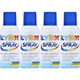 Icy Hot Maximum Strength Medicated Pain Relief Spray, 3.7 Ounces (Pack of 4)
