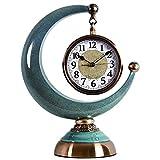 GuoYQ Reloj de sobremesa con números arábigos, Relojes de repisa Reloj de Mesa Vintage Reloj de Escritorio Retro silencioso sin tictac Reloj de péndulo Creativo