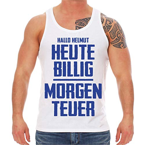 Spaß kostet Männer Tank Top Trägershirt Mallorca Sprüche Helmut Heute billig Morgen teuer (mit Rückendruck) Größe M - XXL