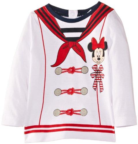Disney Minnie Mouse EN0113 Maglietta, Bianco (White (Optic White/Red), 12 Mesi Bambina