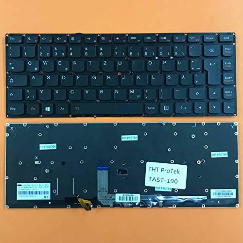 DEUTSCHE - Tastatur mit Beleuchtung ohne Rahmen für Lenovo IdeaPad Yoga 4 Pro 900-isk
