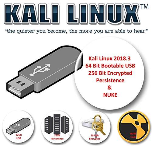 Kali Linux 2018.3 sur USB 32 Go avec stockage de persistance crypté et code NUKE