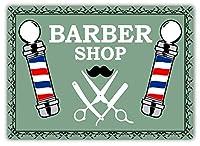 Barber Shop Poles メタルポスター壁画ショップ看板ショップ看板表示板金属板ブリキ看板情報防水装飾レストラン日本食料品店カフェ旅行用品誕生日新年クリスマスパーティーギフト