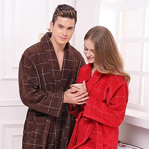 IHCIAIX Winter Nachthemd,Baumwollbademantel Männer NachthemdXL Frauen Pyjama...