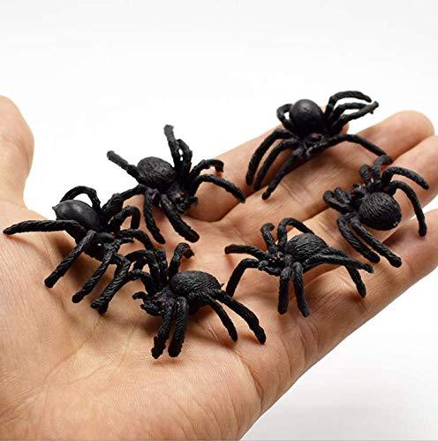 Prank Toy Halloween Party Props 10pz plastica Spider Fake scherzi Puntelli Gomma Ragno