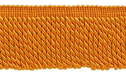DÉCOPRO 10 Yard Value Pack 2.5 Inch Bullion Fringe Trim Style# EF25 Color: 187 - Hot Orange 9.5 Meters / 30 Ft