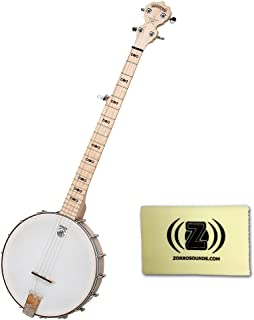 Deering Goodtime 5-String Openback Banjo BUNDLE with Custom Designed Zorro Sounds Instrument Cloth