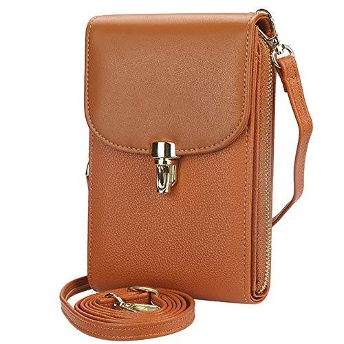 Winnes Crossbody mobiele telefoon portemonnee, crossbody telefoonhoes crossbody tas stijlvolle opbergtas met schouderriem voor dames