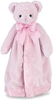 "Bearington Baby Huggie Bear Snuggler, Pink Teddy Plush Stuffed Animal Security Blanket, Lovey 15"""