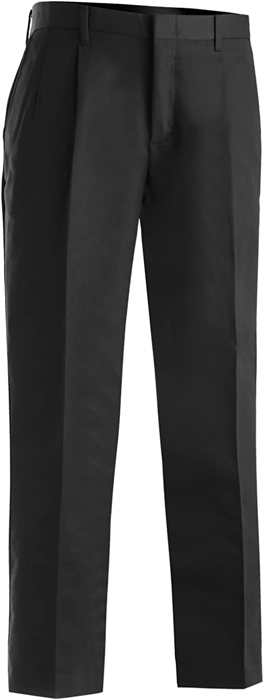 Edwards Men'S Business Casual Pleated Chino Pant Black 28