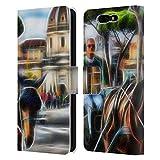 Head Case Designs Oficial Haroulita Roma Plazas 3 Carcasa de Cuero Tipo Libro Compatible con Xiaomi Black Shark
