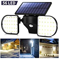 Ousfot Solar Security Motion Sensor Outdoor 56 LED Light