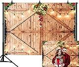 Avezano - Decoración navideña para puerta de granero rústica (2,2 x 1,5 m)