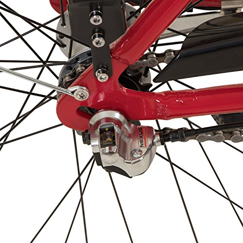 Galano 28 Zoll Prelude Citybike Stadt Fahrrad Licht 3 Gang Nexus, Farbe:rot - 6