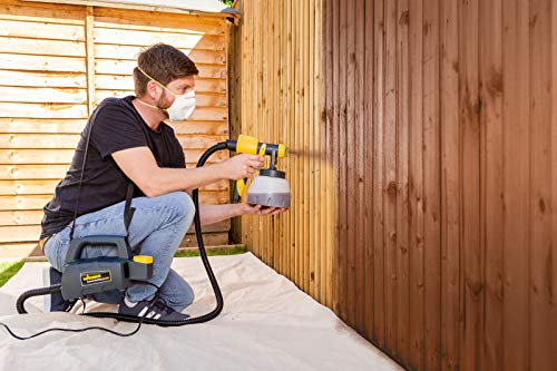 Wagner Fence & Decking Paint Sprayer for fences, sheds, decking or garden furniture, covers 5 m² in 9 min, 1400 ml capacity, 460 W, 1.8 m hose
