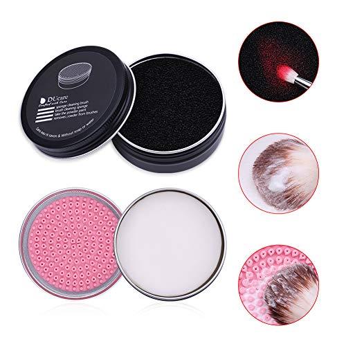 DUcare 2PCS Pinselseife Kosmetik Make-Up Pinsel Reiniger Pinselreiniger Seife(Kokosöl)