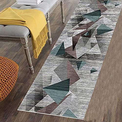 Teppich Läufer Flur Küche rutschfest Kurzflor Brücke Geometrische Eingangsbereich Schlafzimmer - Küchenteppich Waschbar - Anpassbar -120*300cm